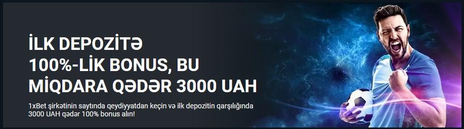 İlk depozitə 100%-lik bonus, bu miqdara qədər 100 EUR